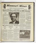 The Missouri Miner, March 25, 1992