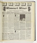 The Missouri Miner, September 29, 1993