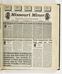 The Missouri Miner, January 18, 1995