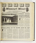 The Missouri Miner, January 25, 1995