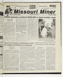 The Missouri Miner, November 01, 2000