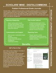 Scholars' Mine Journals and Conferences Promotional Flyer Front Page