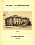 University of Missouri--Rolla Self-Study for North Central Association Accreditation