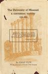 The University of Missouri, A Centennial History 1839-1939